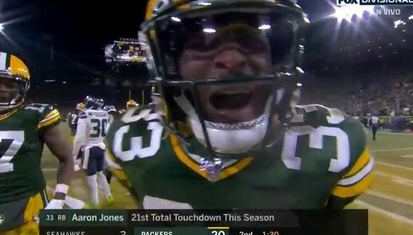 Aaron Jones juega con los Packers desde el 2017. (Foto: FOX Sports)