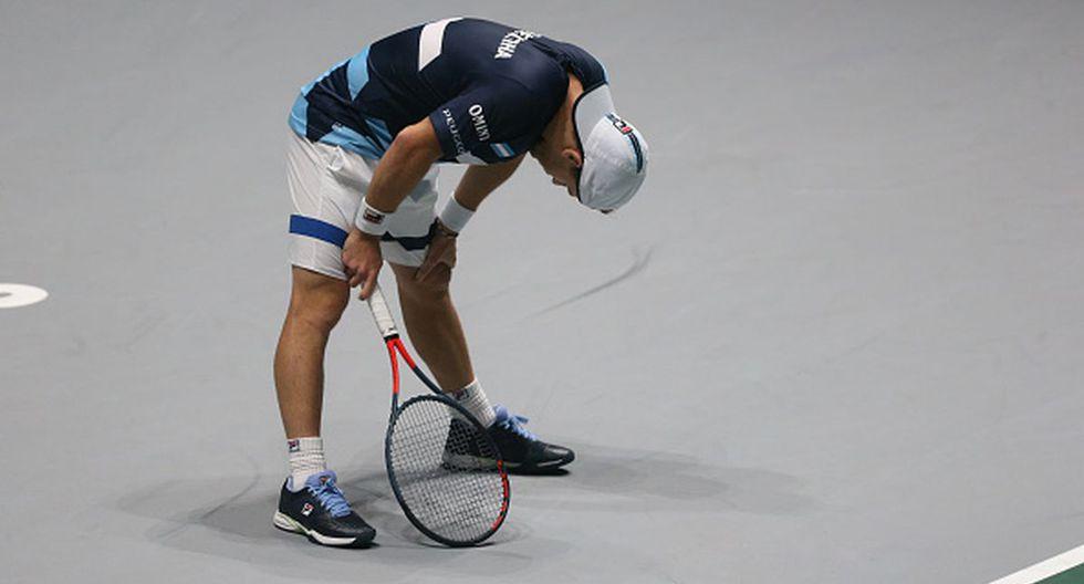 Diego Schwartzman no pudo vencer a su rival en la Copa Davis. (Foto: Getty Images)