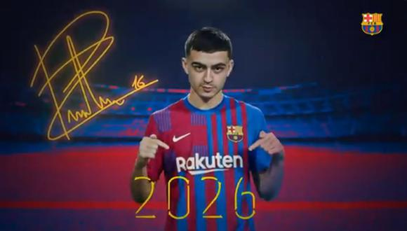 Pedri llegó a FC Barcelona en la temporada 2019. (Captura: FC Barcelona)