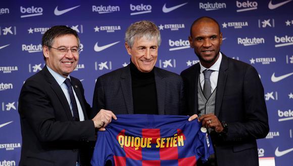 Barcelona fichó a Quique Setién a inicios de año en reemplazo de Ernesto Valverde. (Reuters)