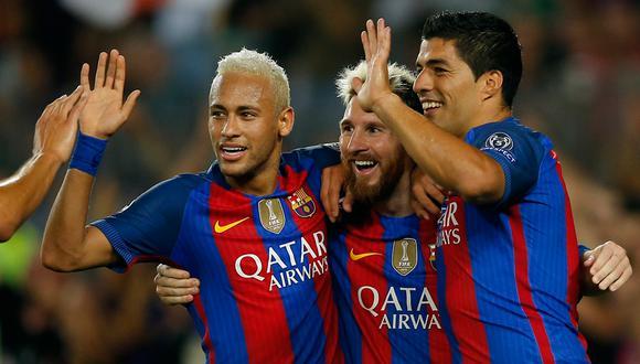 El poderoso tridente logró 519 goles en tres temporadas. (Foto: Reuters)