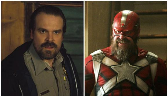 """""""Black Widow"""": David Harbour se quedó atascado en el traje de Red Guardian. (Fuente. Netflix/Marvel)"""