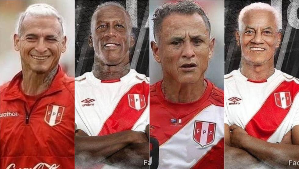 Así lucen los jugadores de la Selección Peruana con el Face App Challenge.