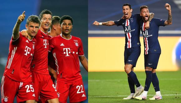 Bayern Munich y PSG se enfrentarán este domingo por la final de la Champions League.