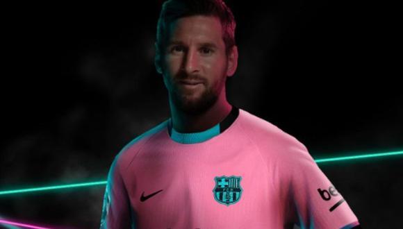 Messi fue protagonista del lanazamiento de la nueva camiseta de FC Barcelona. (Foto: FCB)