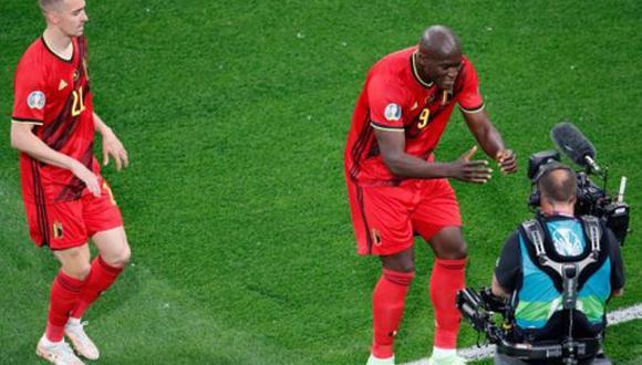 Romelu Lukaku le dedicó su doblete a Christian Eriksen en el duelo entre Bélgica vs. Rusia por Eurocopa 2021. (Foto: Getty Images)