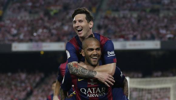 Dani Alves también jugó en PSG y Juventus. (AP)