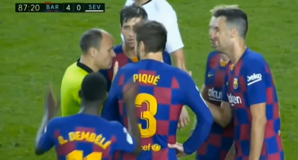 Así fue la tarjeta roja a Ousmane Dembélé en el Barcelona-Sevilla. (Video: YouTube)