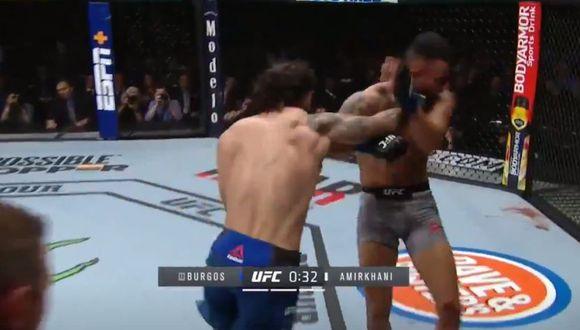 hane Burgos derrotó a Makwan Amirkhani en las preliminares del UFC 244. (Foto: UFC)
