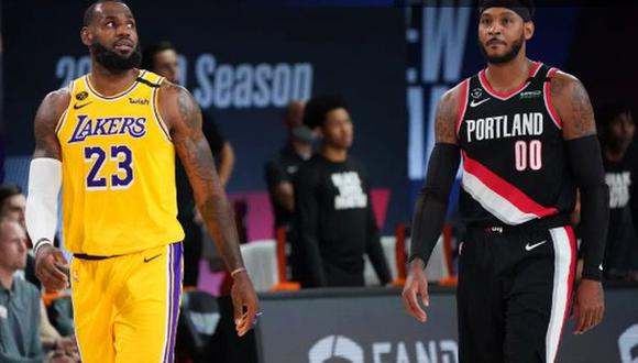 Carmelo Anthony jugará en Los Angeles Lakers y se encontrará con su amigo LeBron James. (Getty Images)