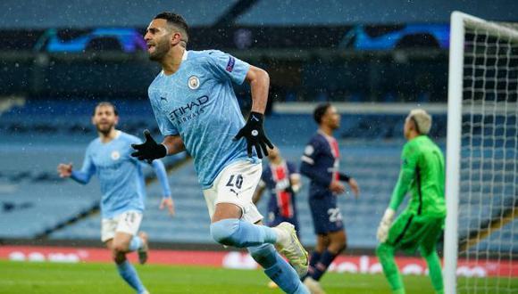 Riyad Mahrez es el máximo artillero del Manchester City en la Champions League 20-21. (Foto: Reuters)