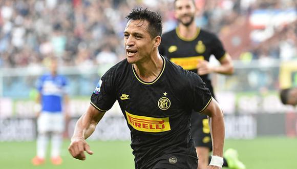 Alexis Sánchez llegó al Inter de Milán esta temporada cedido de Manchester United. (Getty)