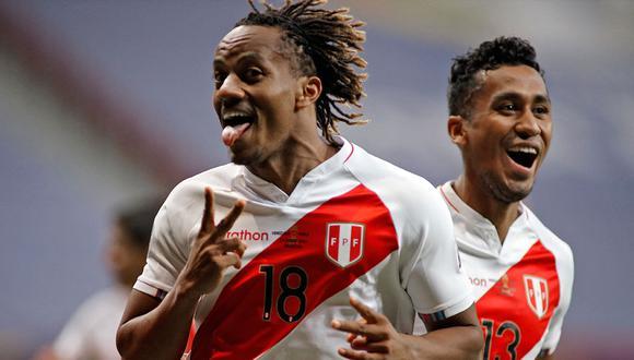Con gol de Carrillo, Perú venció 1-0 a Venezuela, suma 7 puntos y clasifica a cuartos de final e el segundo lugar del grupo B. (Foto: AFP)