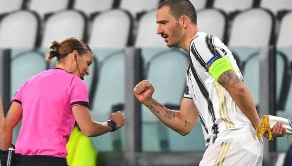 Stéphanie Frappart debutó con el pie derecho en la Champions League (Foto: AFP)