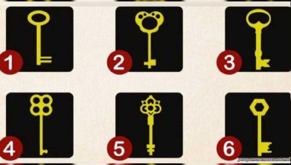 La llave que más te guste o llame tu atención revelará aspectos sobre ti.   Foto: AFP