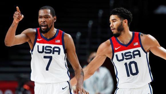 Estados Unidos se llevó la medalla de oro en Tokio 2020 tras vencer a Francia en la final de baloncesto masculino. (Foto: ESPN)