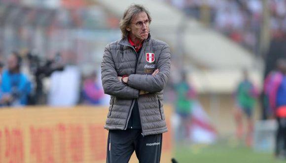 Ricardo Gareca intensifica los trabajos de la Selección Peruana que viaja esta tarde a Brasil.