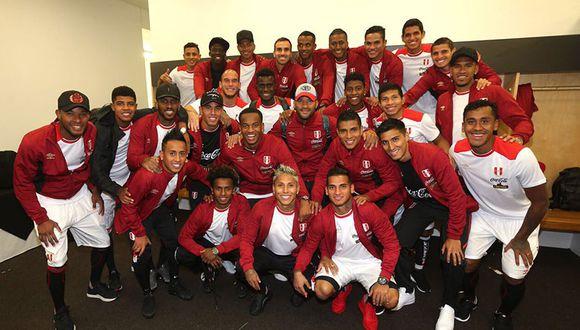 Selección Peruana: el vestuario de la bicolor tras el empate ante Nueva Zelanda. (Twitter Selección Peruana)
