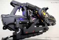 ¡Impresionante! este rifle futurista es en realidad una PC Gamer [FOTOS]