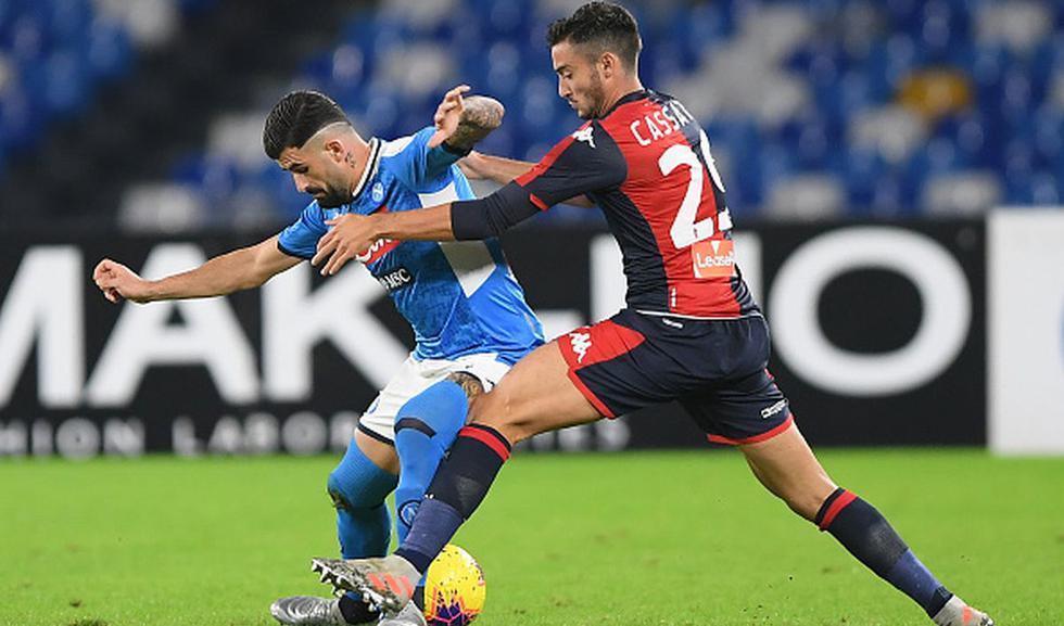 Napoli vs. Genoa por la fecha 12 de la Serie A. (Getty)