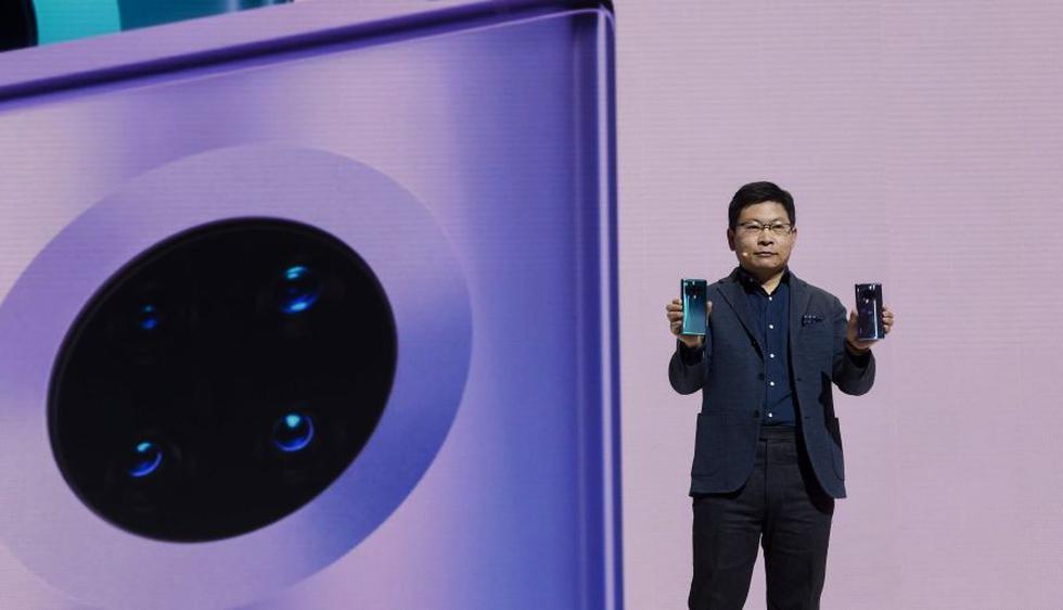 Presentación del nuevo Huawei Mate 30 (AFP)