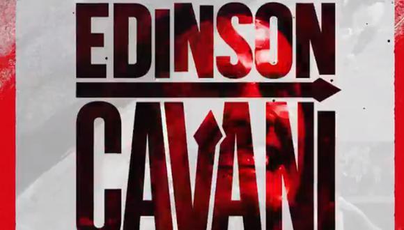 Edinson Cavani jugará en el Manchester United esta temporada. (Foto: Twitter)