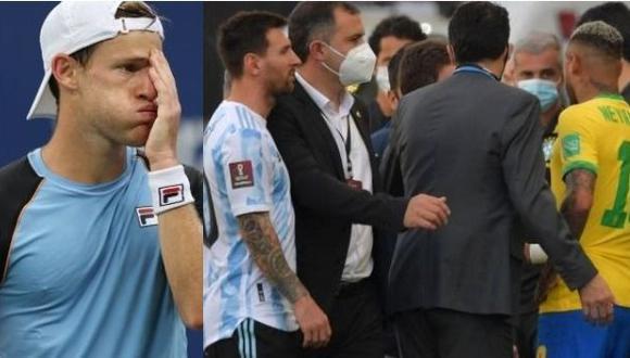 Diego Schwartzman ironizó con la suspensión del Argentina-Brasil de las Eliminatorias. (Foto: AFP)