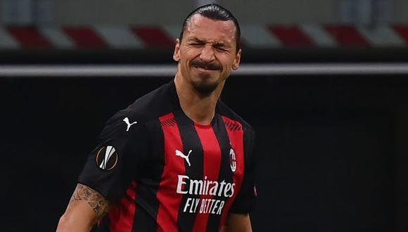 Zlatan Ibrahimovic puede quedar fuera de las canchas por un mes. (Foto: AFP)