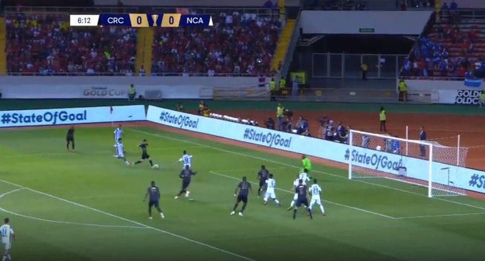 Bryan Oviedo y la definición entre las piernas para el 1-0 de Costa Rica sobre Nicaragua por Copa Oro 2019