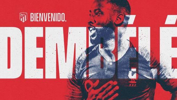 Moussa Dembélé jugará en Atlético de Madrid hasta el final de la temporada 2020-21. (Foto: Atlético de Madrid)