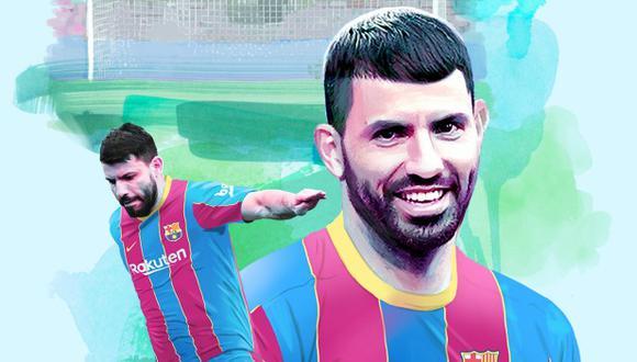 Sergio Agüero es nuevo jugador de Barcelona. (Foto: @FCBarcelona_es)