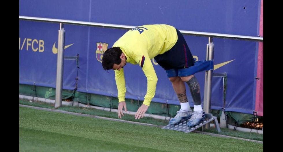 Barcelona retomó entrenamientos grupales de máximo 10 jugadores . (FC Barcelona)