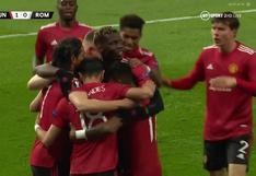 El pase de Cavani es medio gol: Bruno Fernandes anota el 1-0 de Manchester United vs. Roma [VIDEO]
