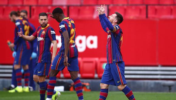 Barcelona venció 2-0 a Sevilla y no renuncia a la pelea por LaLiga. (Getty Images)