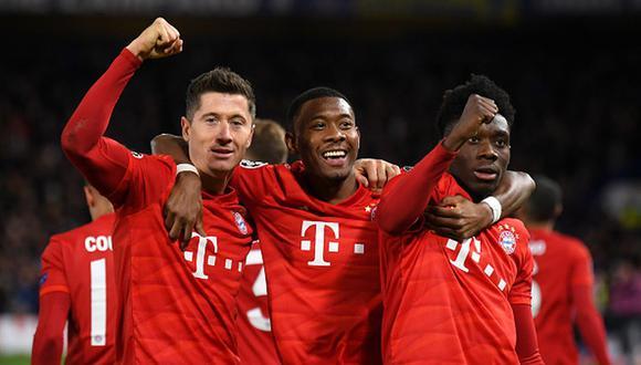 Bayern Munich fue una máquina en Londres en el partido ante Chelsea por la Champions. (Foto: Getty)