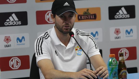 Manuel Barreto habló en conferencia de prensa previo al choque ante Barcelona SC en el Nacional. (Foto: GEC)