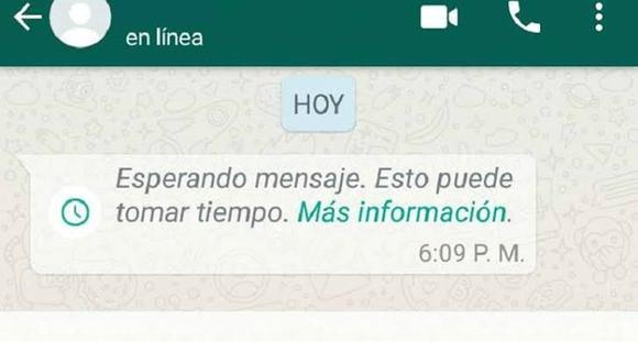 Si te aparece este mensaje en WhatsApp es porque existe un problema en el sistema de cifrado de extremo a extremo. (Foto: Mag)