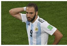 """Gonzalo Higuaín: """"Estoy entre los seis máximos goleadores de la selección argentina y nadie se acuerda"""""""