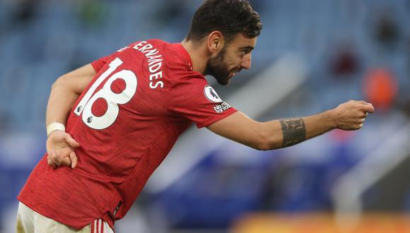 Bruno Fernandes contó qué le aconsejó CR7 cuando fue al Manchester United. (Foto: AFP)