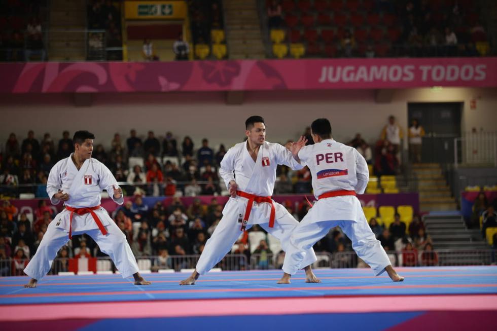 Equipo peruano de Kata venció a México y obtuvo la octava medalla de oro en Lima 2019. (Foto: Jesús Saucedo)