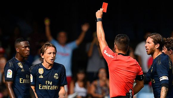 El contundente mensaje de Modric tras su expulsión el el Real Madrid-Celta