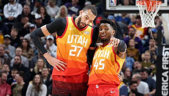 Rudy Gobert y Donovan Mitchell, primeros casos en la NBA, se recuperaron del coronavirus. (Getty Images)