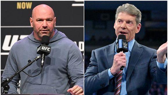 """Dana White sobre realizar eventos durante la pandemia: """"Los únicos que no le tenemos miedo somos Vince McMahon y yo"""". (Getty Images/WWE)"""