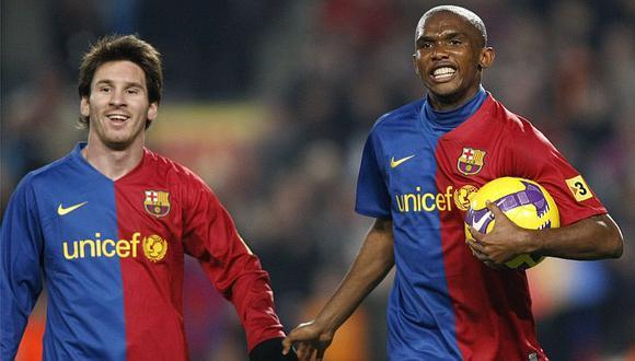 Samuel Eto'o jugó en el Barcelona entre el 2004 y 2009. (Foto: AFP)
