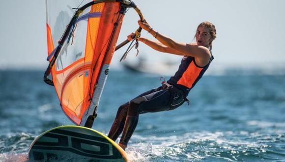 María Belén Bazo se ubicó en el top 10 del Campeonato Europeo de Windsurf 2021. (European Championship)