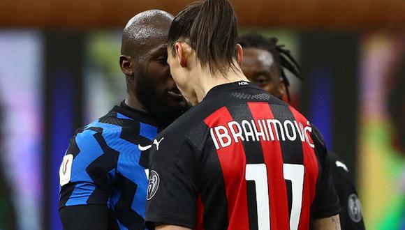 Zlatan Ibrahimovic vio la roja en partido por cuartos de final de la Copa Italia. (Getty Images)