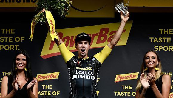 Primoz Roglic desplazó al británico Chris Froome del podio del Tour de Francia 2018. (AFP)