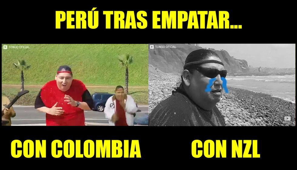 Perú vs. Nueva Zelanda: los divertidos memes que generó el empate en Wellington.