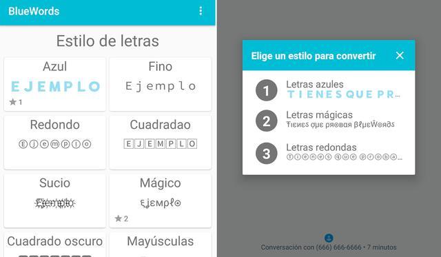 Así funciona BlueWords, la aplicación que te permite cambiar el color de tu texto de WhatsApp.  (Foto: Mag)