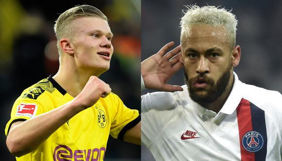 Erling Haaland y Neymar son los máximos exponentes del Dortmund y PSG, respectivamente. (Fotos: Agencias)